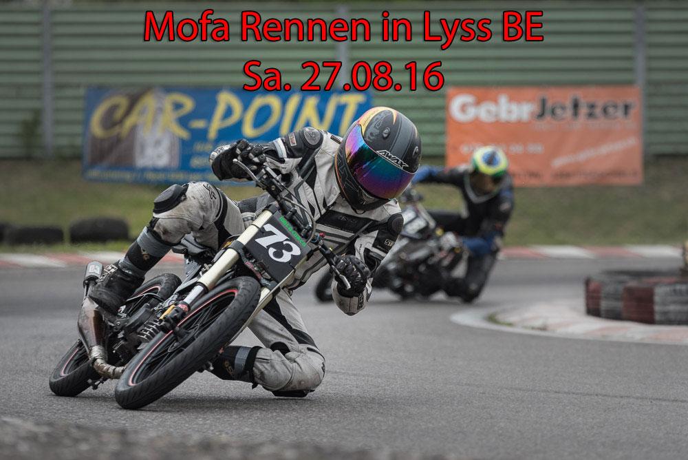 Das nächste Mofa Rennen steht vor der Türe